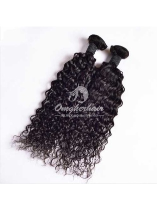 Indian Remy Hair Weaves 2pcs Bundles Natural Color Natural Wave [IN02]