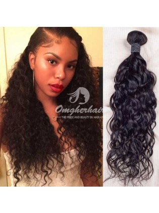 Indian Remy Hair Weaves Natural Color 3pcs Bundles Natural Wave [IN03]
