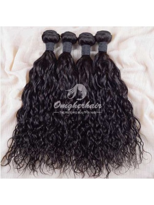 Indian Remy Hair Weaves Natural Color 4pcs Bundles Natural Wave [IN04]