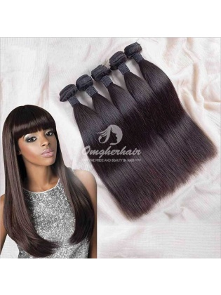 4x4'' Middle Part Lace Closure With Indian Remy Hair Weaves 4pcs Bundles Good Quality [WIS40]