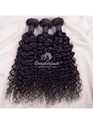Indian Remy Hair Weaves Natural Color 3pcs Bundles Water Wave [IW03]