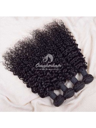 Indian Remy Hair Weaves Natural Color 4pcs Bundles Water Wave [IW04]