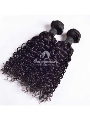 Indian Remy Hair Weaves Water Wave 2pcs Bundles Natural Color [IW02]