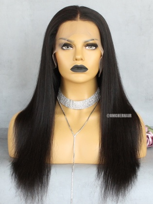 Relaxed Light Yaki 13x4 Lace Frontal Wig No Work Needed [IKW03]
