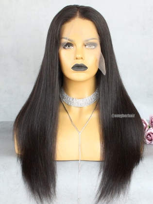 13x4 Lace Frontal Wig Silky Straight Pre-Plucked Hairline [IKW01]