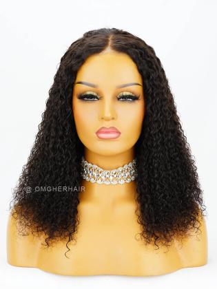 Special Offer-  Kinky Curl Pre-Plucked Virgin Brazilian Hair 360 Frontal Wig [WLB03]