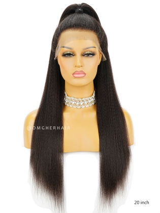 Affordable Kinky Straight Indian Remy Hair Full Lace Wigs For Black Woman [IFW06]