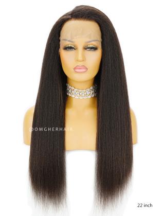 Kinky Straight Virgin Brazilian Hair Full Lace Wigs [BFW09]