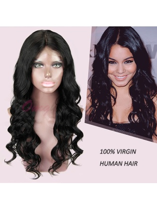 Hot Style Body Wave Brazilian Virgin Hair Full Lace Wigs Natural Color [BFW48]