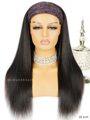 Light YaKi Straight Headband Wig Indian Remy Human Hair [HBW03]