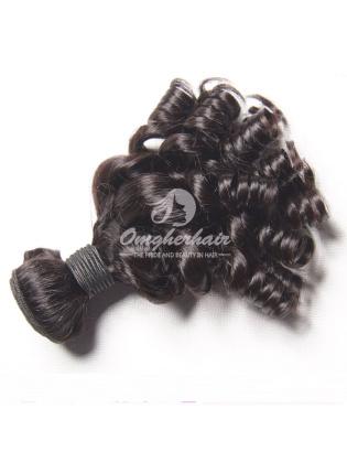 Peruvian Virgin Hair Funmi Hair Weave Bouncy Curl Natural Color [PFB01]
