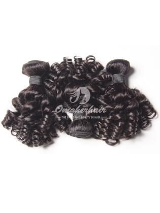 Brazilian Virgin Hair Funmi Hair Weaves Bouncy Curl 3pcs Bundles Natural Color [BFB03]