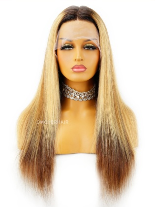 Luxy Ombre blonde wig  6 Inch Deep parting  Transparent Lace  Indian Remy Hair [Bella]