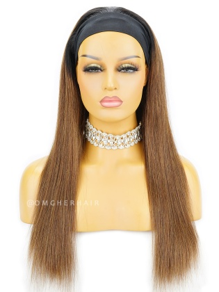 Ombre Silky Straight Headband Wig Indian Remy Human Hair[HBW11]