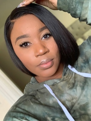 Pre-Bleached &Pre-Plucked 180% Density Virgin Brazilian Hair Bob Lace Wig [NaturalJoy009]