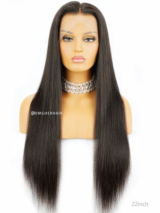 Top Quality Virgin Brazilian Hair Silky Straight Full Lace Wigs Natural Color [BFW52]