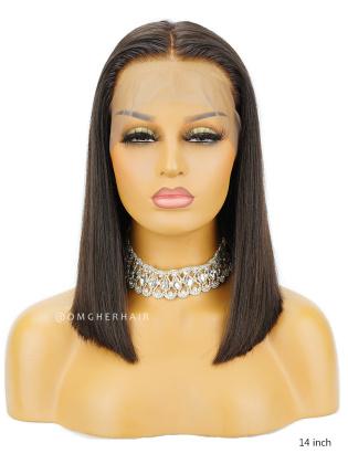 Pre-Plucked Silky Straight Bob Style Lace Wig Brazilian Virgin Hair [BOB10]