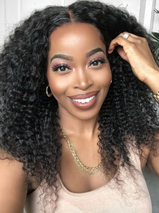 Pre-Plucked Virgin Brazilian Hair Water Curly 360 Frontal Wig [NLW09]