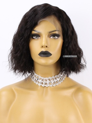 Special Offer- 10 Inch & 180% Density Body Wave Indian Remy Human Hair Lace Wig[CX44]