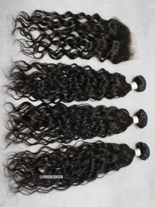 Special Offer-Peruvian Virgin Hair Loose Wave 4X4'' Closure With 3pcs Weft Bundles [CX46]