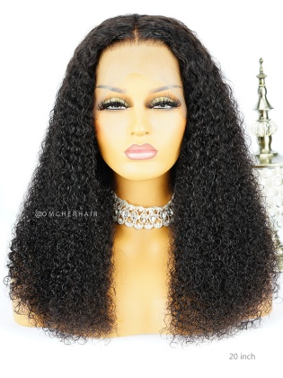 Kinky Curly Virgin Brazilian Human Hair 360 Pre-Plucked hairline Lace Wig [NLW03]