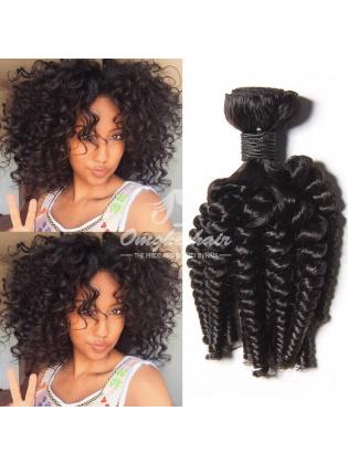 Brazilian Virgin Hair Funmi Hair Weaves Loose Curl 3pcs Bundles Natural Color [BFL03]