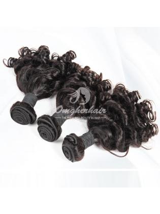 Brazilian Virgin Hair Funmi Hair Weaves Bouncy Curl Natural Color 4pcs Bundles [BFB04]