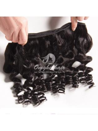 Brazilian Virgin Hair Funmi Hair Weave Bouncy Curl Natural Color [BFB01]