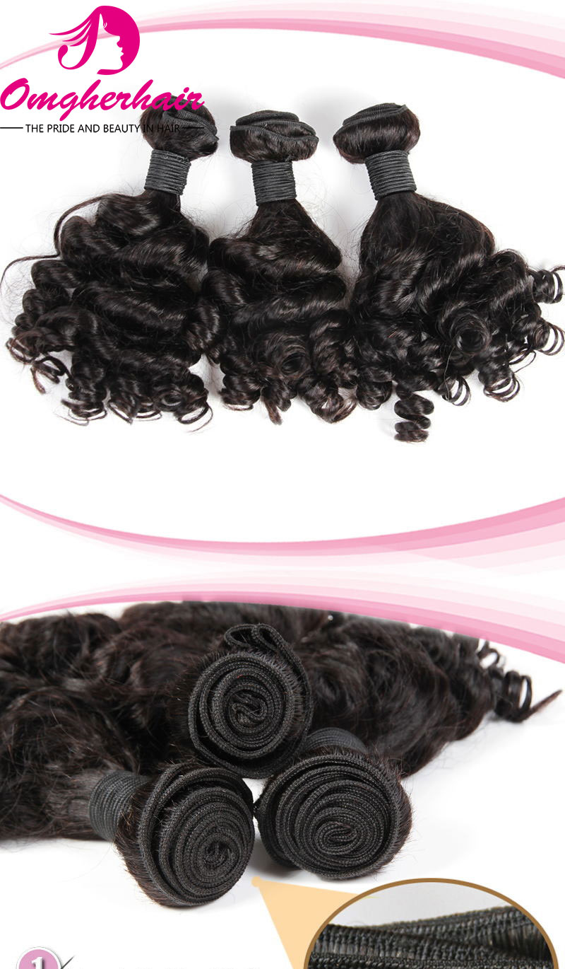 100% Peruvian Virgin Hair Weave Bouncy curl