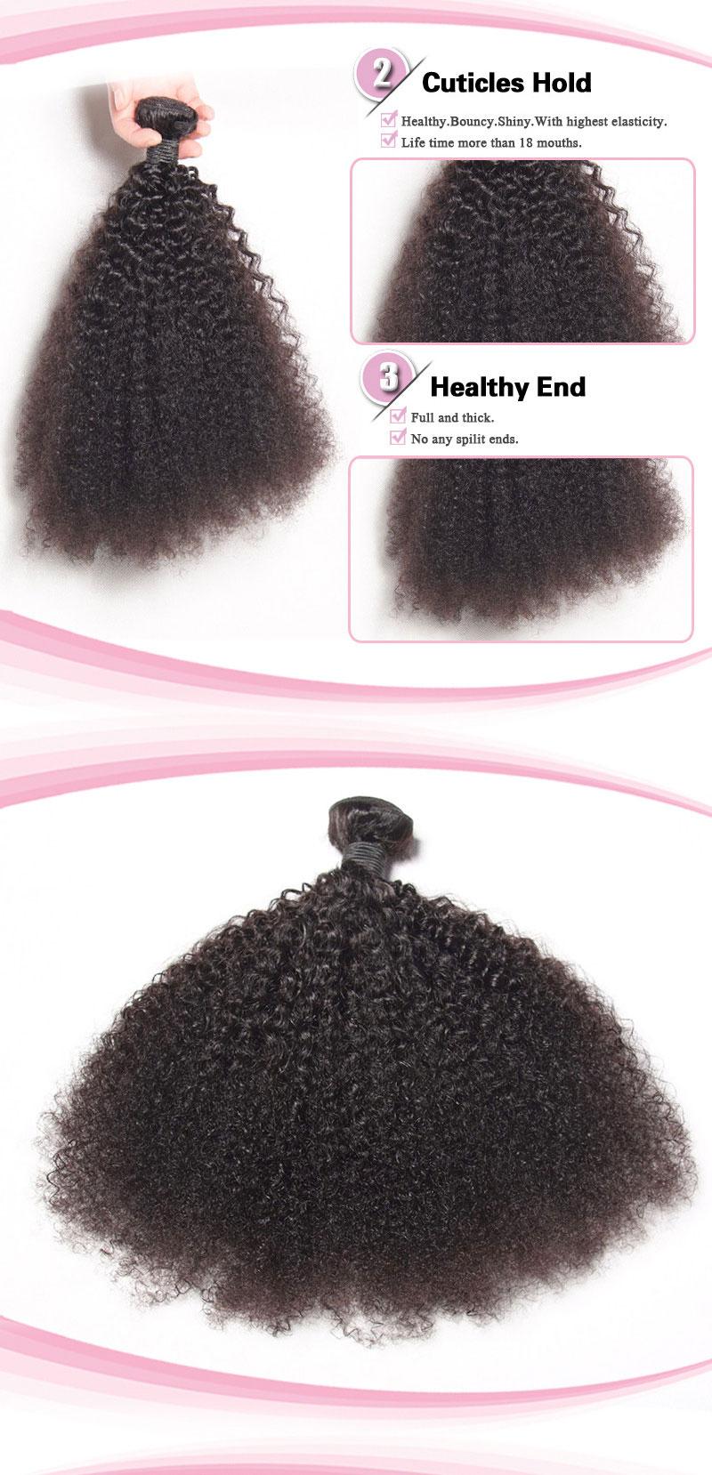 100% Peruvian Virgin Hair Weave Afro kinky Curl