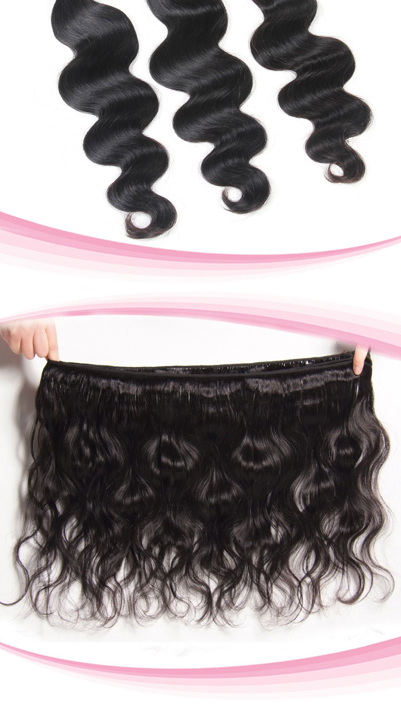100% Peruvian Virgin Hair Weave Body Wave 01