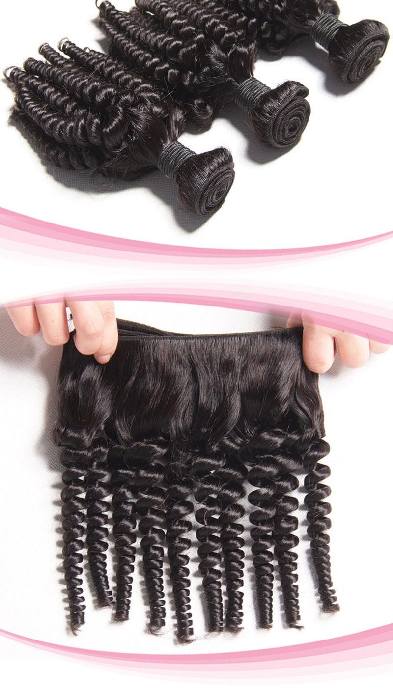 100% Peruvian Virgin Hair Weave Kinky Curl