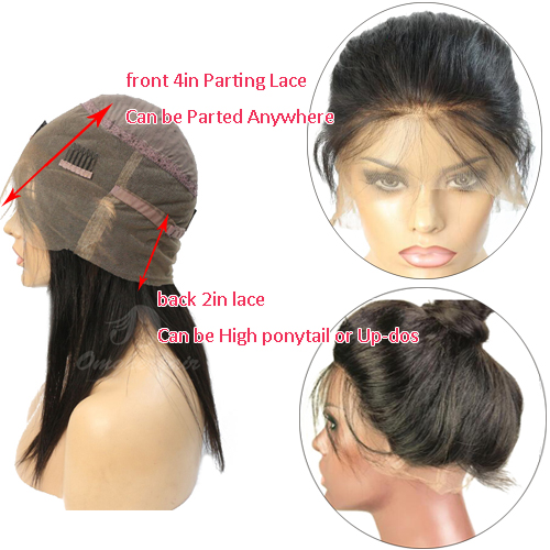 Relaxed Light Yaki Virgin Brazilian 360 Pre-plucked Hairline Lace Wig