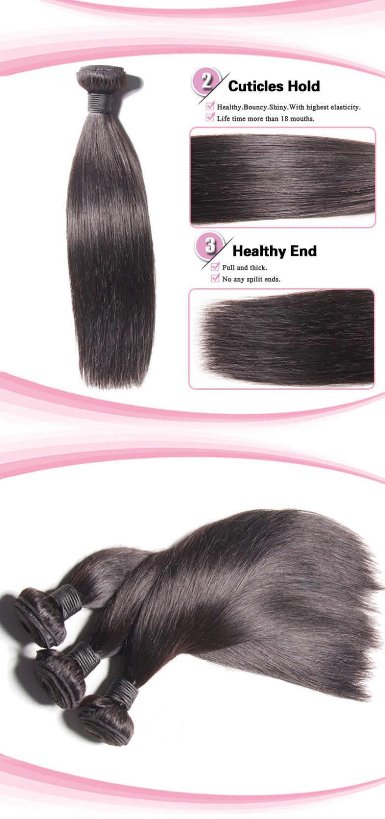 100% Peruvian Virgin Hair Weave Silky Straight02
