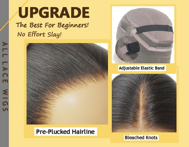 Upgrade Pre-Plucked Lace Wigs Omgherhair